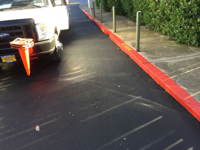 parking lot striping and stenciling